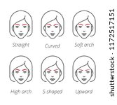 eyebrow shapes women faces... | Shutterstock .eps vector #1172517151