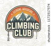 climbing club badge. vector.... | Shutterstock .eps vector #1172517574
