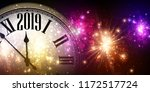 shiny 2019 new year background... | Shutterstock .eps vector #1172517724