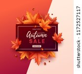 autumn banner with colorful... | Shutterstock .eps vector #1172527117