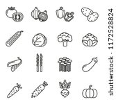 vegetables icon set with white... | Shutterstock .eps vector #1172528824