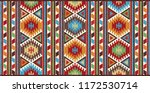 colorful mosaic oriental kilim... | Shutterstock .eps vector #1172530714