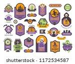 halloween badges set. colorful... | Shutterstock .eps vector #1172534587