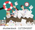 businessman sticks out of a... | Shutterstock .eps vector #1172541037