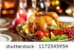 closeup photo of tasty chicken...   Shutterstock . vector #1172545954