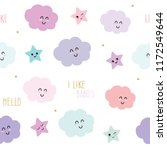 cute seamless pattern... | Shutterstock .eps vector #1172549644