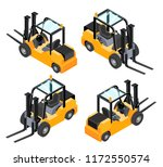 yellow forklift isolated on... | Shutterstock .eps vector #1172550574