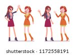 women friendly greeting. female ...   Shutterstock .eps vector #1172558191