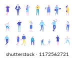vector set of people characters ... | Shutterstock .eps vector #1172562721