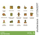 hobby flat icon set. playing... | Shutterstock .eps vector #1172563297