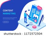seo and content marketing... | Shutterstock .eps vector #1172572504