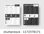 vector template menu for cafes... | Shutterstock .eps vector #1172578171