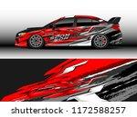 car decal wrap design vector.... | Shutterstock .eps vector #1172588257