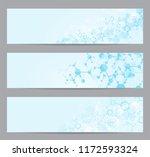 set of modern scientific... | Shutterstock .eps vector #1172593324
