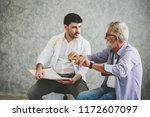 professional psychologist... | Shutterstock . vector #1172607097