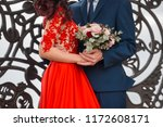 close up of bride in red...   Shutterstock . vector #1172608171