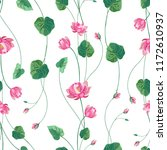Trendy Floral Background With...