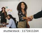 happy business professional... | Shutterstock . vector #1172611264