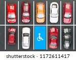 top view of parking for the... | Shutterstock . vector #1172611417