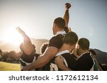 rugby players lifting the... | Shutterstock . vector #1172612134