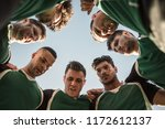 low angle view of rugby players ... | Shutterstock . vector #1172612137