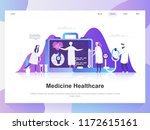 medicine and healthcare modern... | Shutterstock .eps vector #1172615161