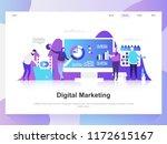 digital marketing modern flat... | Shutterstock .eps vector #1172615167