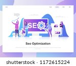 seo analysis modern flat design ...