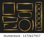 shiny gold glowing frames and... | Shutterstock .eps vector #1172617417