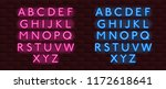 neon banner alphabet font... | Shutterstock .eps vector #1172618641