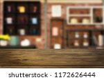 wooden board empty table top... | Shutterstock . vector #1172626444