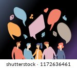 people chat in social network.... | Shutterstock .eps vector #1172636461