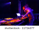 dj spinning at a club | Shutterstock . vector #11726377