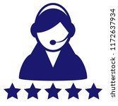 service icon vector customer... | Shutterstock .eps vector #1172637934
