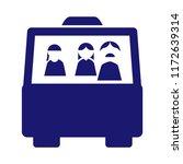 bus vector icon. | Shutterstock .eps vector #1172639314