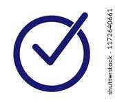 check mark vector icon. | Shutterstock .eps vector #1172640661