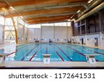 swimming pool with race tracks...   Shutterstock . vector #1172641531
