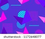 memphis seamless pattern....   Shutterstock .eps vector #1172648077