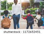 group of mother and kids... | Shutterstock . vector #1172652451
