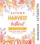 autumn harvest festival poster... | Shutterstock .eps vector #1172652754