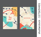 set of creative universal... | Shutterstock .eps vector #1172654401