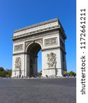 view of the arc de triomphe in... | Shutterstock . vector #1172661211