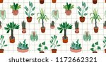 urban jungle. vector seamless... | Shutterstock .eps vector #1172662321