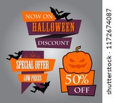 halloween sale design for... | Shutterstock .eps vector #1172674087