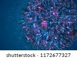 vector abstract 3d crystal. a... | Shutterstock .eps vector #1172677327