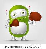 cartoon character cute robot... | Shutterstock .eps vector #117267739
