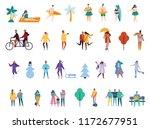 vector set of diferent... | Shutterstock .eps vector #1172677951