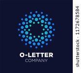 letter o logo. dots icon ... | Shutterstock .eps vector #1172678584