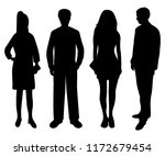 silhouettes of people of women... | Shutterstock .eps vector #1172679454