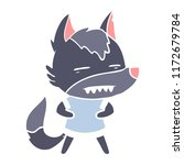 flat color style cartoon wolf...   Shutterstock .eps vector #1172679784